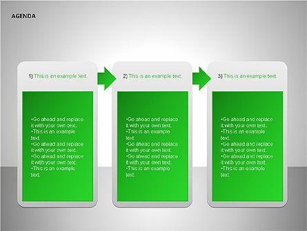 Agenda Lists, Slide 12, 00092, Text Boxes — PoweredTemplate.com