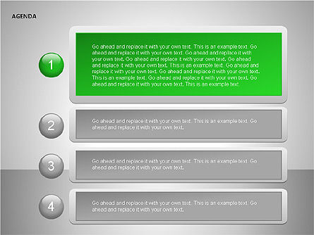 Agenda Lists, Slide 13, 00092, Text Boxes — PoweredTemplate.com