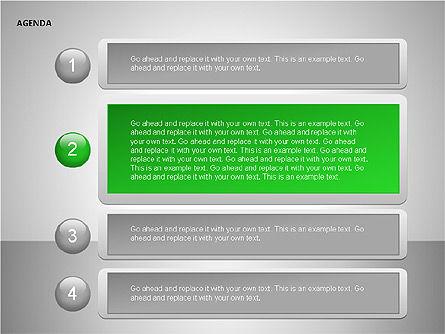 Agenda Lists, Slide 14, 00092, Text Boxes — PoweredTemplate.com