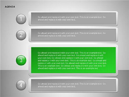 Agenda Lists, Slide 15, 00092, Text Boxes — PoweredTemplate.com