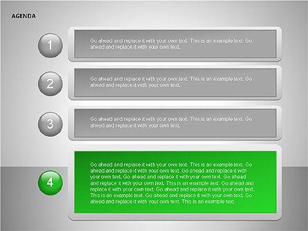 Agenda Lists, Slide 16, 00092, Text Boxes — PoweredTemplate.com