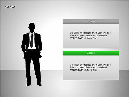 Agenda Lists, Slide 20, 00092, Text Boxes — PoweredTemplate.com