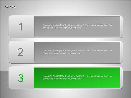Agenda Lists, Slide 4, 00092, Text Boxes — PoweredTemplate.com