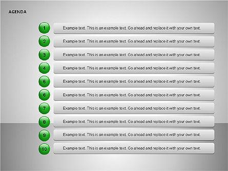 Agenda Lists, Slide 6, 00092, Text Boxes — PoweredTemplate.com