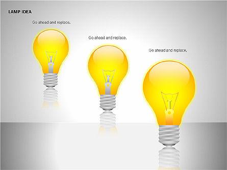 Idea Bulbs, Slide 10, 00095, Shapes — PoweredTemplate.com