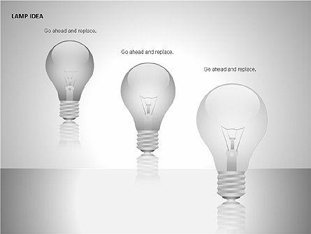 Idea Bulbs, Slide 11, 00095, Shapes — PoweredTemplate.com