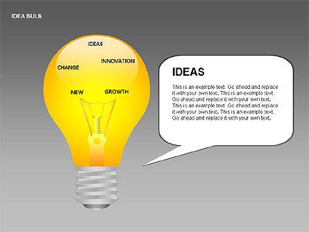 Idea Bulbs, Slide 12, 00095, Shapes — PoweredTemplate.com
