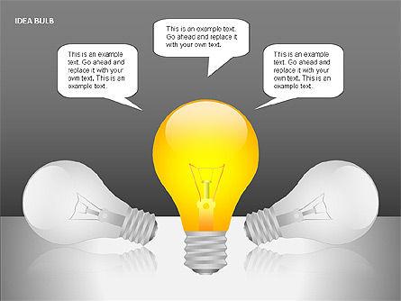 Idea Bulbs, Slide 13, 00095, Shapes — PoweredTemplate.com