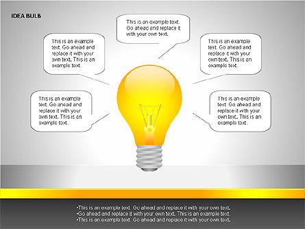 Idea Bulbs, Slide 14, 00095, Shapes — PoweredTemplate.com