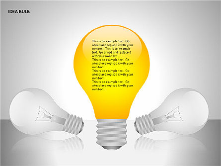 Idea Bulbs, Slide 15, 00095, Shapes — PoweredTemplate.com