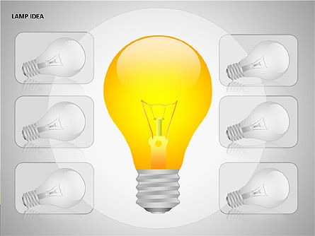 Idea Bulbs, Slide 2, 00095, Shapes — PoweredTemplate.com