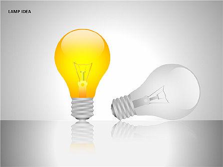 Idea Bulbs, Slide 3, 00095, Shapes — PoweredTemplate.com