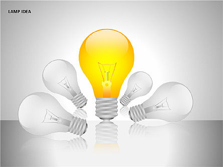 Idea Bulbs, Slide 4, 00095, Shapes — PoweredTemplate.com