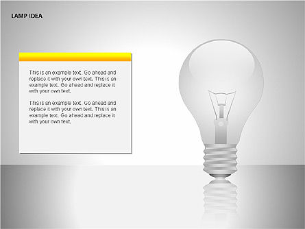 Idea Bulbs, Slide 5, 00095, Shapes — PoweredTemplate.com