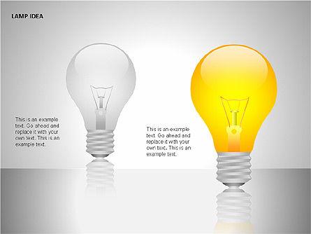 Idea Bulbs, Slide 6, 00095, Shapes — PoweredTemplate.com