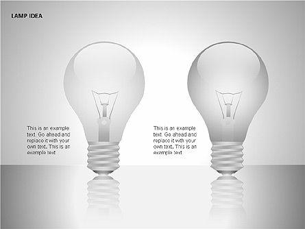 Idea Bulbs, Slide 7, 00095, Shapes — PoweredTemplate.com