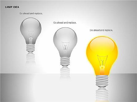 Idea Bulbs, Slide 8, 00095, Shapes — PoweredTemplate.com