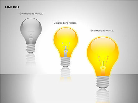 Idea Bulbs, Slide 9, 00095, Shapes — PoweredTemplate.com