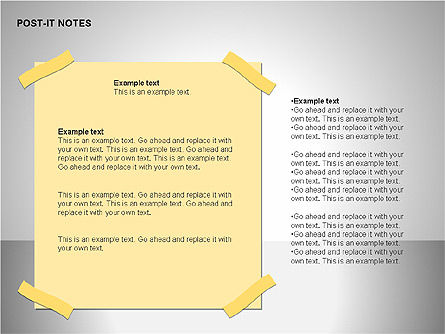 Post-It Notes Shapes, Slide 10, 00097, Shapes — PoweredTemplate.com