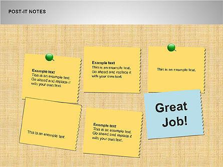 Post-It Notes Shapes, Slide 11, 00097, Shapes — PoweredTemplate.com