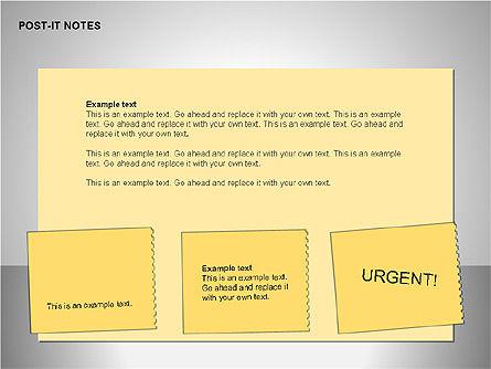 Post-It Notes Shapes, Slide 12, 00097, Shapes — PoweredTemplate.com