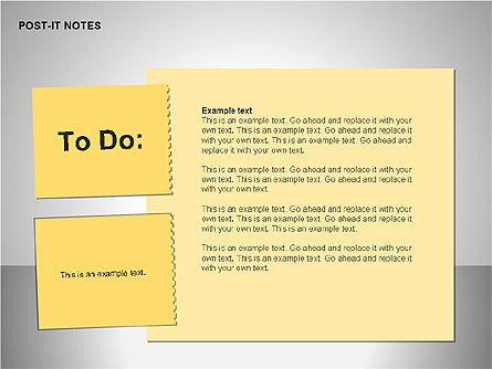 Post-It Notes Shapes, Slide 13, 00097, Shapes — PoweredTemplate.com