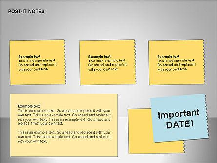Post-It Notes Shapes, Slide 14, 00097, Shapes — PoweredTemplate.com