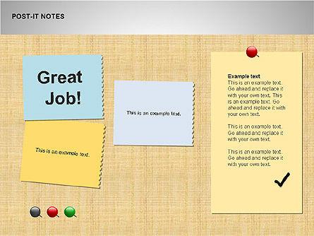 Post-It Notes Shapes, Slide 15, 00097, Shapes — PoweredTemplate.com