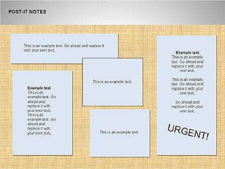 Post-It Notes Shapes, Slide 5, 00097, Shapes — PoweredTemplate.com