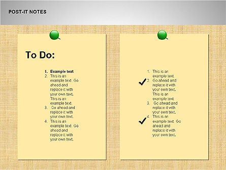 Post-It Notes Shapes, Slide 7, 00097, Shapes — PoweredTemplate.com