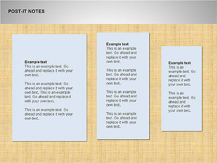 Post-It Notes Shapes, Slide 8, 00097, Shapes — PoweredTemplate.com