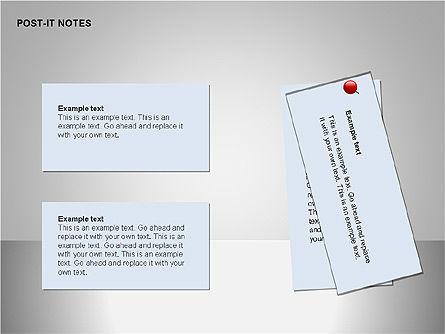 Post-It Notes Shapes, Slide 9, 00097, Shapes — PoweredTemplate.com