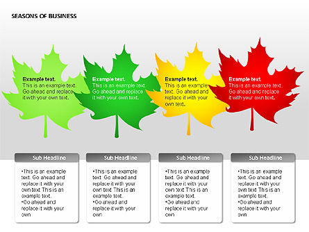 Seasons of Business Shapes Slide 3