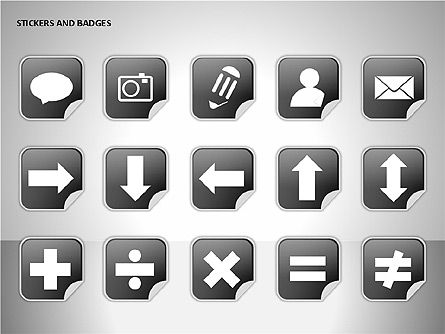 Stickers and Badges Icons, Slide 6, 00099, Icons — PoweredTemplate.com
