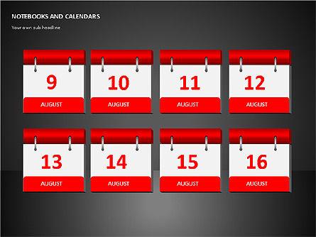 Notebooks and Calendar, Slide 11, 00101, Timelines & Calendars — PoweredTemplate.com