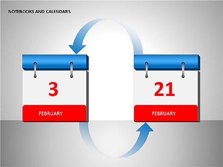 Notebooks and Calendar, Slide 14, 00101, Timelines & Calendars — PoweredTemplate.com