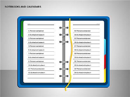 Notebooks and Calendar, Slide 15, 00101, Timelines & Calendars — PoweredTemplate.com