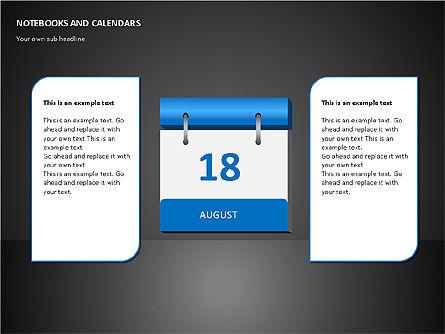 Notebooks and Calendar, Slide 5, 00101, Timelines & Calendars — PoweredTemplate.com