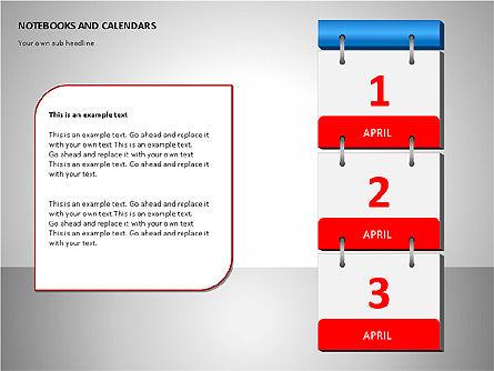 Notebooks and Calendar, Slide 6, 00101, Timelines & Calendars — PoweredTemplate.com