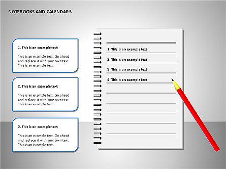 Notebooks and Calendar, Slide 7, 00101, Timelines & Calendars — PoweredTemplate.com