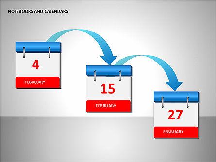 Notebooks and Calendar, Slide 8, 00101, Timelines & Calendars — PoweredTemplate.com