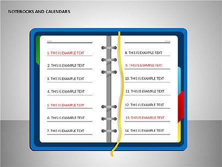 Notebooks and Calendar, Slide 9, 00101, Timelines & Calendars — PoweredTemplate.com