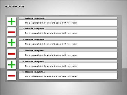 Pros and Cons Charts, Slide 14, 00103, Shapes — PoweredTemplate.com