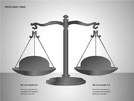 Pros and Cons Charts, Slide 8, 00103, Shapes — PoweredTemplate.com