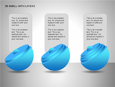 3D Shell Model, Slide 10, 00104, Pie Charts — PoweredTemplate.com