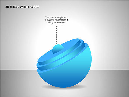 3D Shell Model, Slide 9, 00104, Pie Charts — PoweredTemplate.com