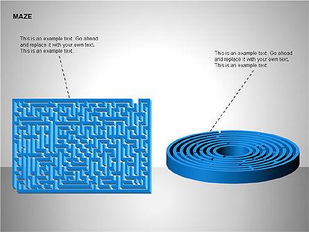 Free Maze Shapes, Slide 10, 00105, Shapes — PoweredTemplate.com