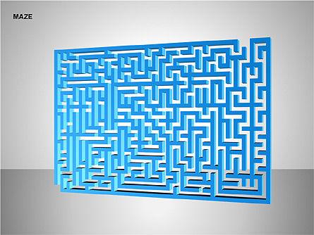 Free Maze Shapes, Slide 5, 00105, Shapes — PoweredTemplate.com