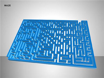 Free Maze Shapes, Slide 7, 00105, Shapes — PoweredTemplate.com
