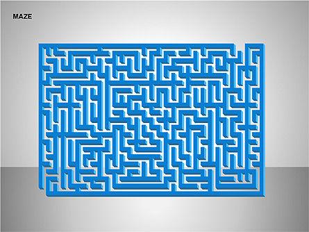 Free Maze Shapes, Slide 9, 00105, Shapes — PoweredTemplate.com